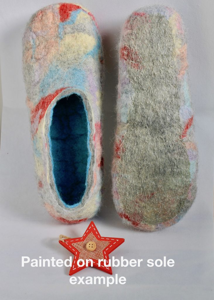 Sole option for ladies wool felted shoe