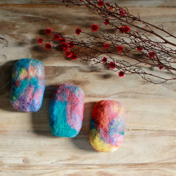 Felted wool soap Australian made